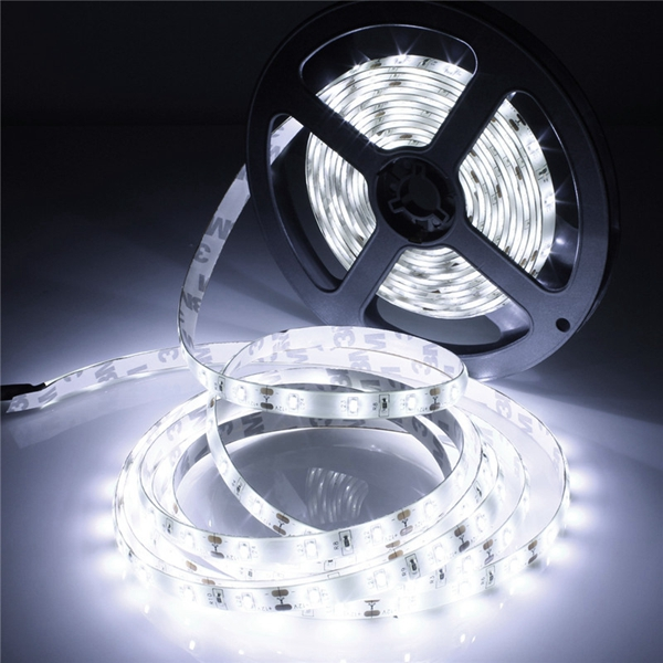 5M 300 SMD 3014 White/Warm White Waterproof LED Strip Light DC 12V