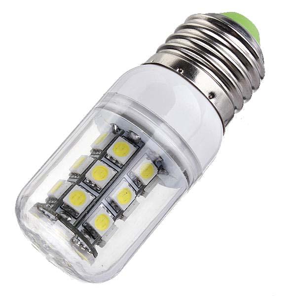 E27 LED Bulbs 12V 3W 27 SMD 5050 White/Warm White Corn Light