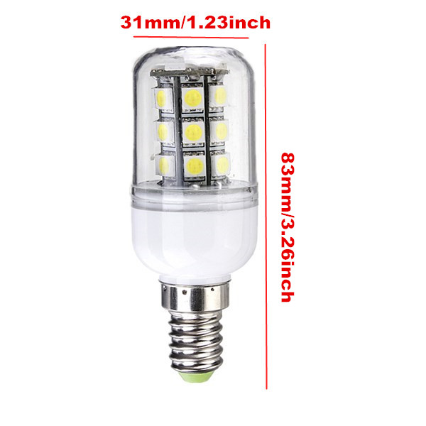 E14 LED Bulbs 12V 3W 27 SMD 5050 White/Warm White Corn Light