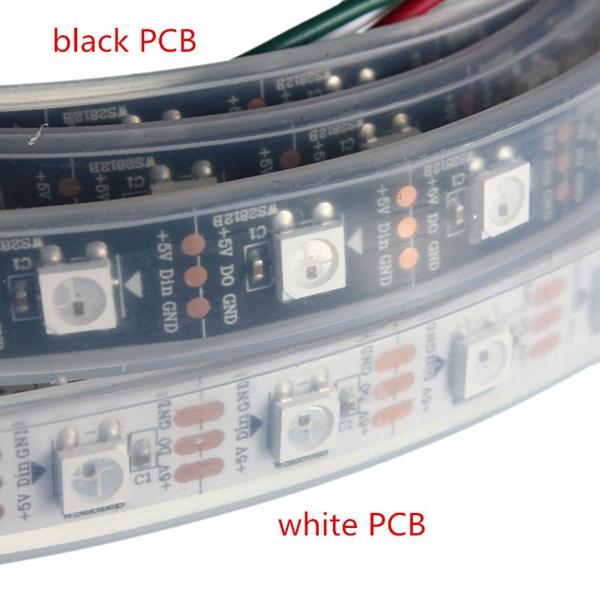 5M WS2812B 5050 RGB Waterproof IP67 150 LED Strip Light Dream Color Changing Individual Addressable DC 5V