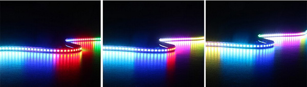 5M WS2812B 5050 RGB Waterproof IP67 300 LED Strip Light Dream Color Changing Individual Addressable DC 5V