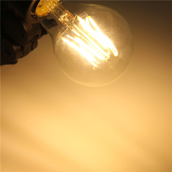 E27 A60 4W Warm White/ White Edison Filament LED COB Dimmable Globe Bulb Lamp AC220V/110V
