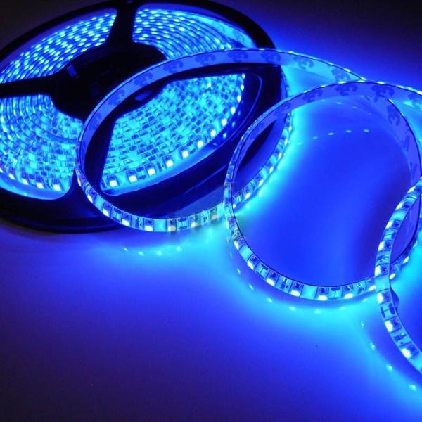 Blue Waterproof 5M 3528 LED SMD 600 Lights Flexible Strip Light DC 12V