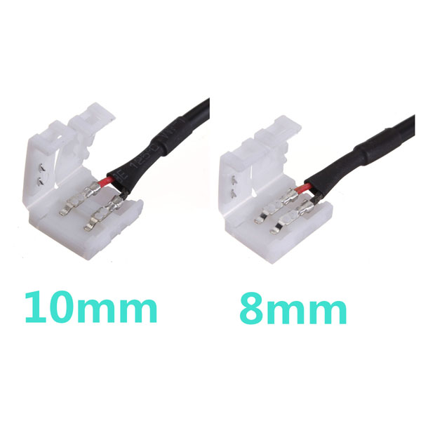 2Pin Connector Cable To DC Female For LED Strip 3528/5050 SMD