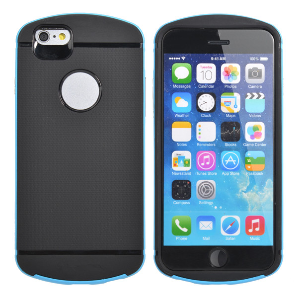 Unique Hybrid TPU Frame Bumper PC Cover Case For iPhone 6