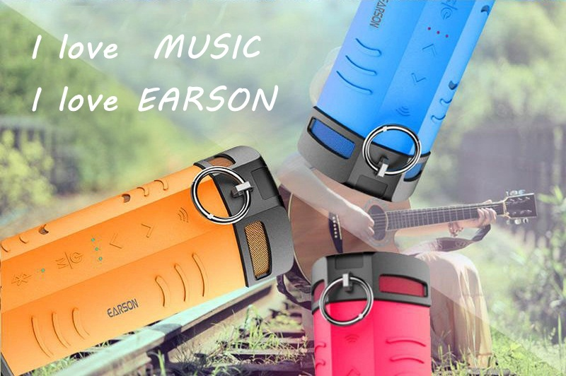 Original EARSON ER-160 Mammoth Waterproof Portable Wireless bluetooth Stereo Speaker
