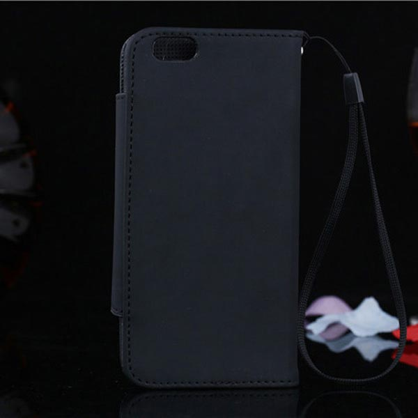 Frosted Strap Wallet PU PC Leather Case For iPhone 6 Plus & 6s Plus