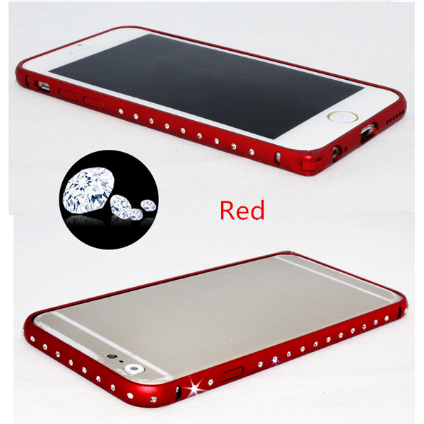 Luxury Diamond Hippocampus Buckle Metal Bumper Frame For iPhone 6
