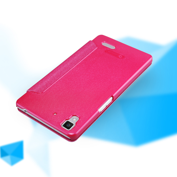NILLKIN NEW LEATHER CASE-Sparkle Leather Case For OPPO R7
