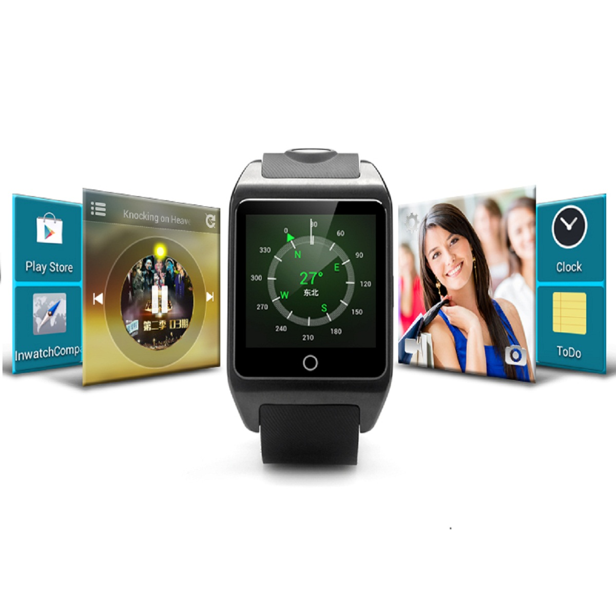inWatch Z 1.63-inch Android 4.2 IP57 NFC WiFi Dual-core Watch Phone