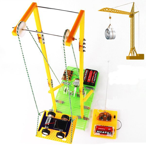 DIY Assembly Educational Toys Model RC Electric Elevator
