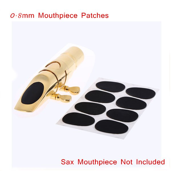 8pcs 0.8mm Soprano Saxophone Clarinet Mouthpiece Patches Pads Cushions