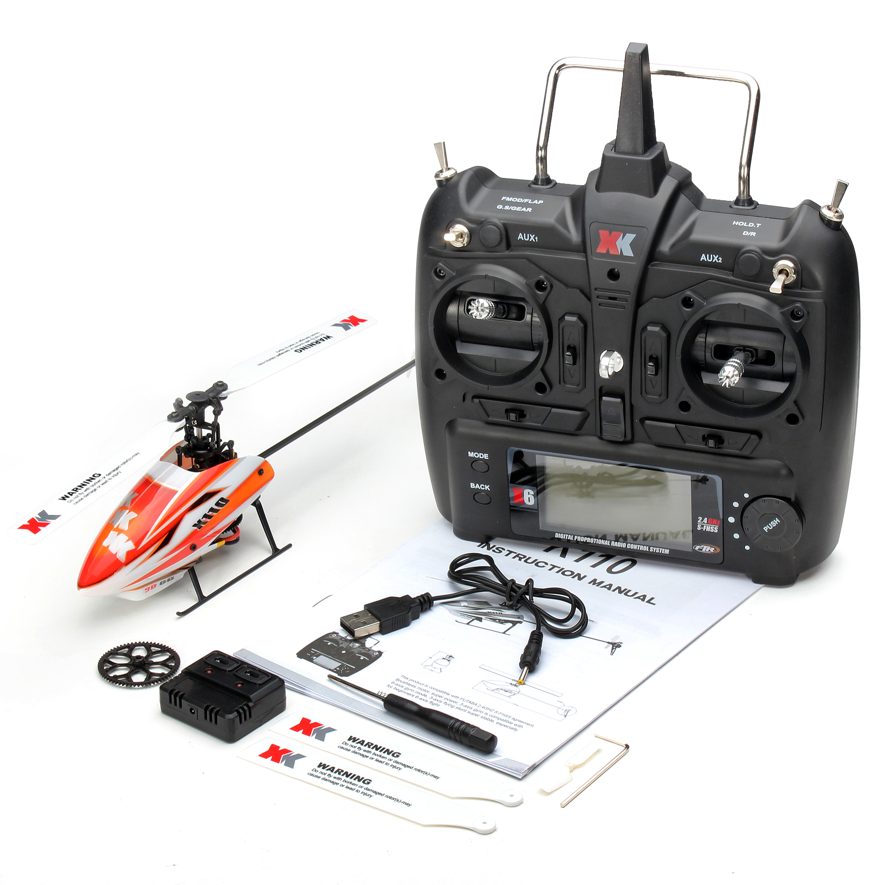 K110 Blast 6CH Brushless 3D6G System RC Helicopter RTF