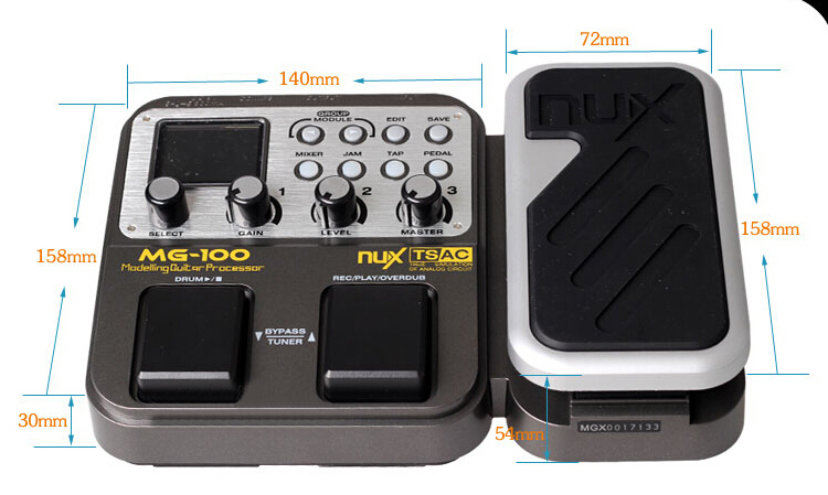 NUX MG-100 Multi-Effects Processor Guitar Effect Pedal