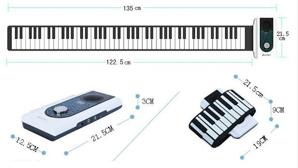iWord 88 Key Professional Roll Up Piano With MIDI Keyboard 43