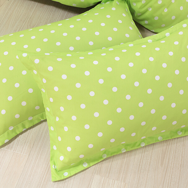 4pcs Polyester Fiber Dot Reactive Printing Bedding Sets