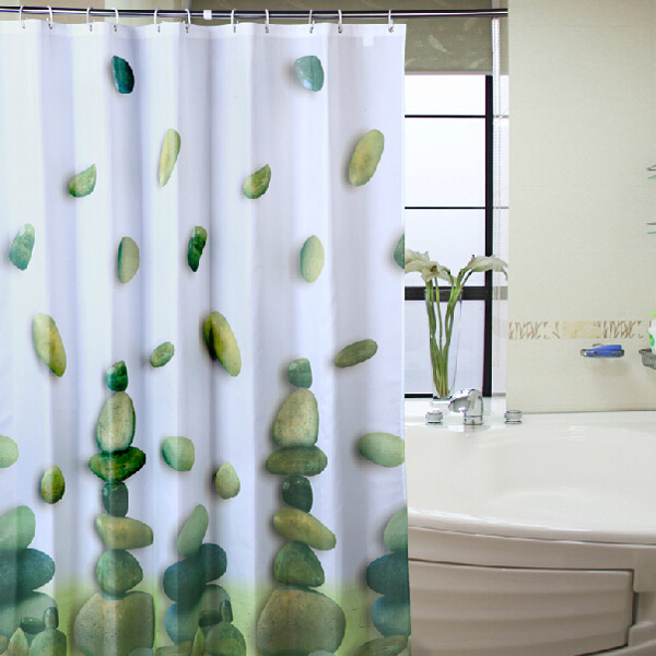 Riverstones Waterproof Polyester Shower Curtain Bathroo
