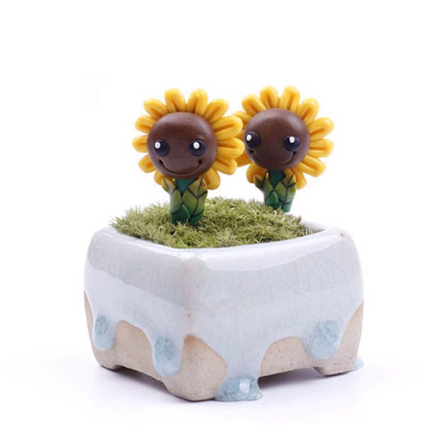 Micro Landscape Decorations Mini Resin Sunflower Garden DIY Decor