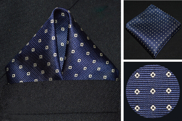 Dot Polyester Men Suit Pocket Square Banquet Wedding Handkerchief Towel