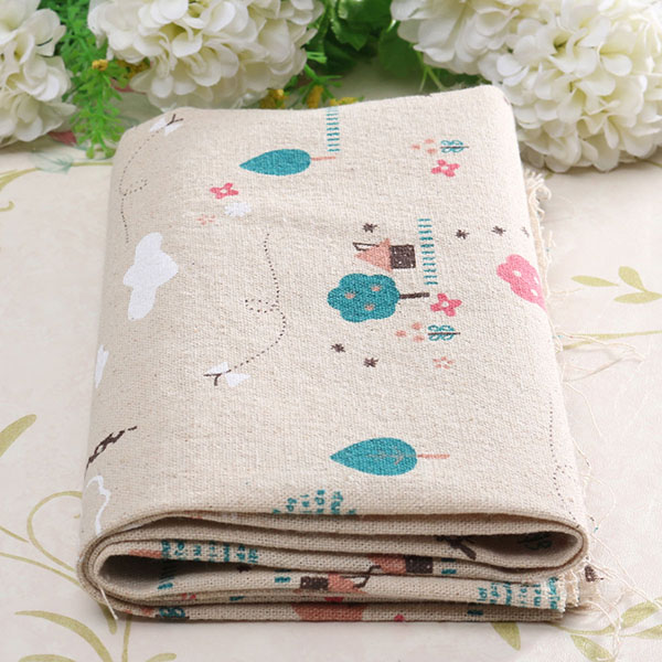 Cartoon Cotton Linen Fabric Cloth Patchwork For DIY Table Bedding Curtain
