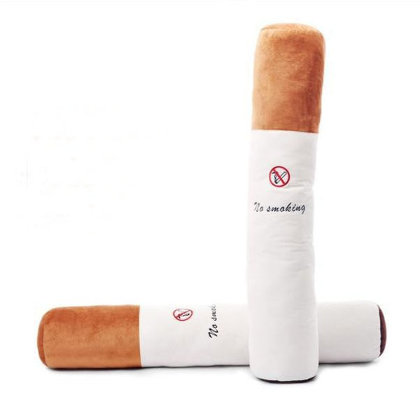 80CM Plush Cigarette No Smoking Pillow