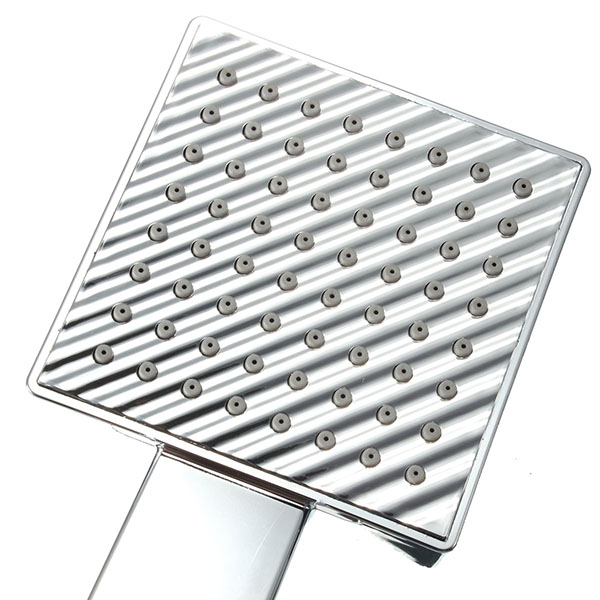 Chrome Polished Silver Square Handheld Shower Head Water Saving