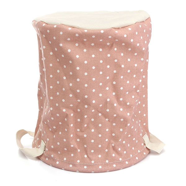23*26cm Cotton Linen Storage Clothes Basket Laundry Hamper Daily Stuff Bag