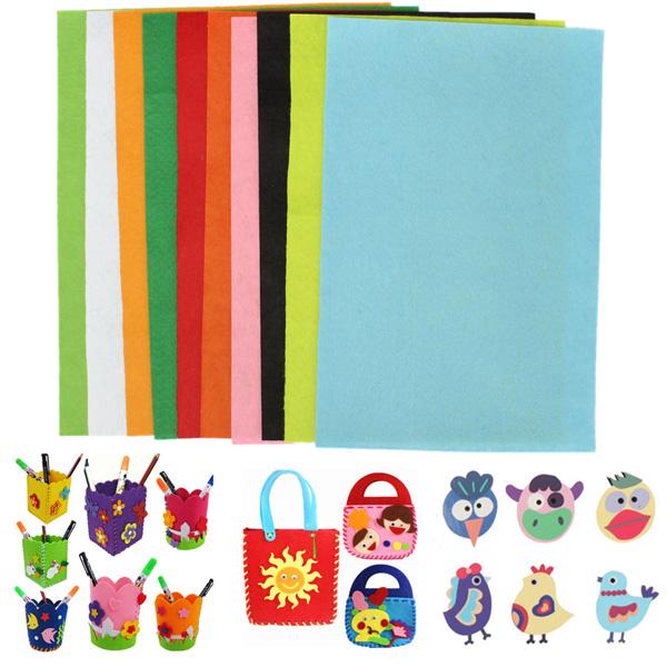 10pcs 30x20cm Mixed Colours Non-woven Fabrics Felt For DIY Art Handicraft