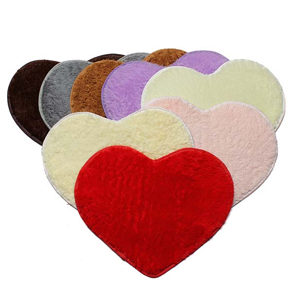 50x60cm Heart Shape Doormat Bathroom Bedroom Carpet