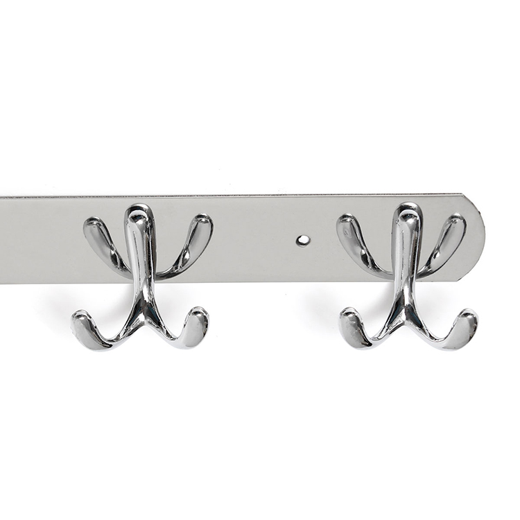 Stainless Steel Bifurcation Shape Clothes Robe Hooks Wall Mounted Towel Coat Hanger Rack