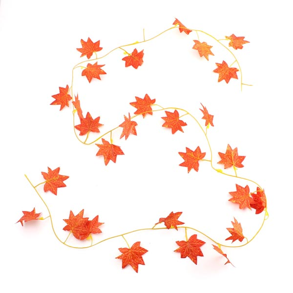 2.3m Artificial Ivy Red Maple Plastic Fake Leaves Garland Home Garden Decoration