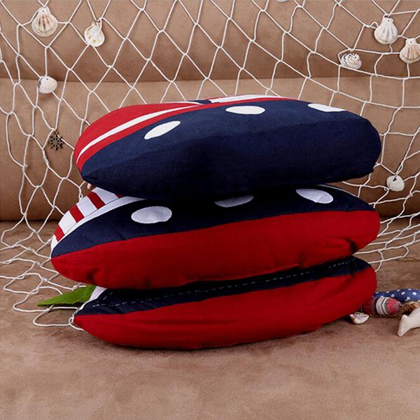 Mediterranean Style Sail Boat Shape Nautical Throw Pillow Sofa Office Car Cushion