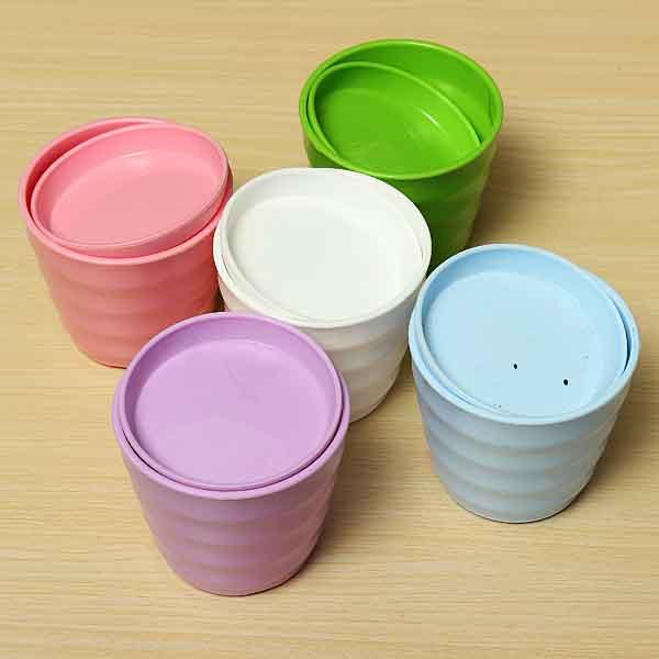 Plastic Thread Flower Pot With Tray Garden Plants Flower Pots