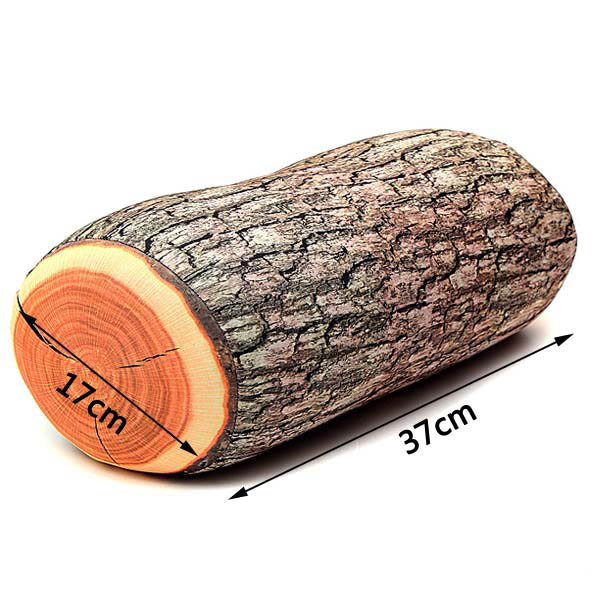 Creative Log Wood Shape Pillow Home Office Car Comfortable Cushion