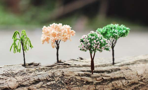 Mini Landscape Tree Cherry Willow Tree Home Garden Decor