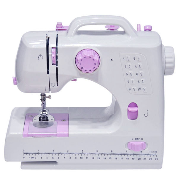 8 Stitches Multifunction Electric Overlock Sewing Machine Household Sewing Tool with LED