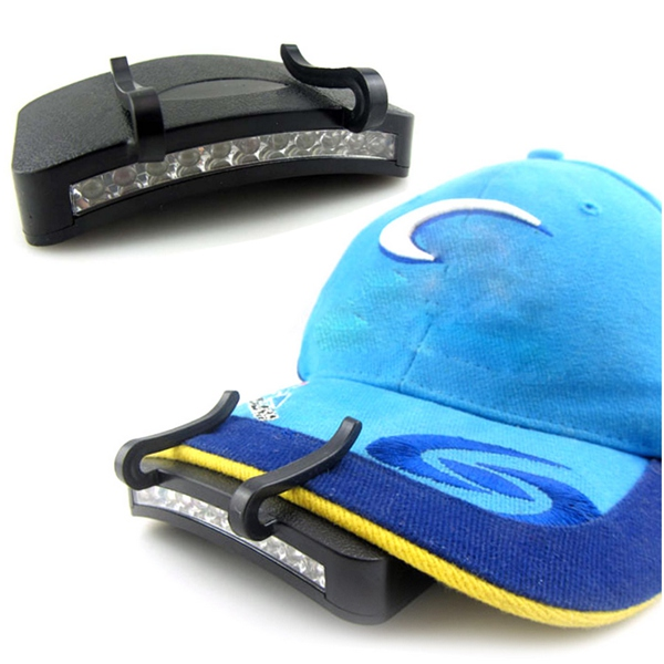 11 LED Clip-On Cap Light Lamp Hiking Camping Fishing Ou