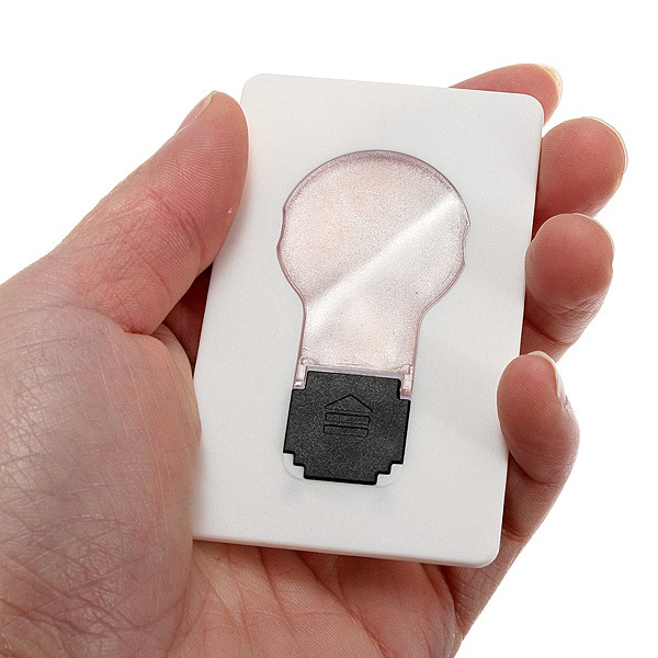 5pcs Portable LED Card Light Pocket Lamp Put In Purse Wallet Emergency Light Description: The size same as credit card and no wire needs. It is very convenient because it can place inside the wallet. A such small card may use for illumination, design is s #purse