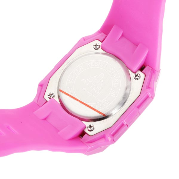 ALIKE A9150 Sport Pink Square Backlight Men Women Quartz Wrist Watch