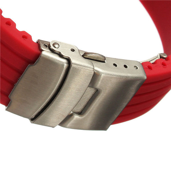 Male Silicone Deployment Replacement Clasp Watch Strap Band