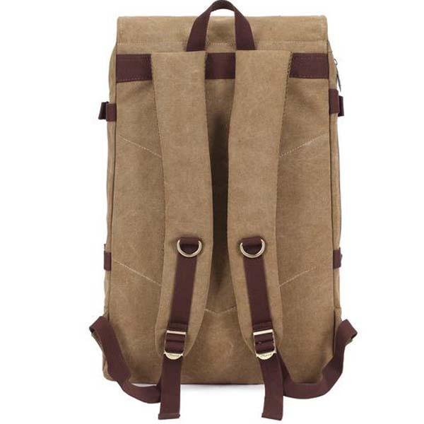KAUKKO Mens Casual Vintage Canvas Backpack Travel Camping Bags
