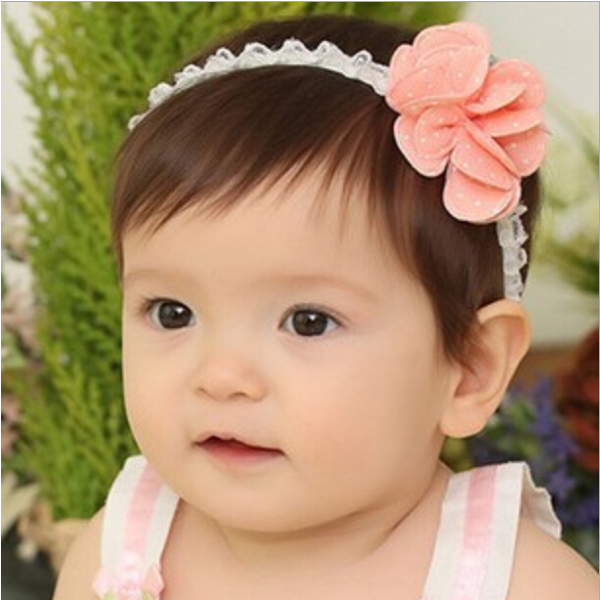 Baby Girl Elastic Hair Band Floral Dot Flower Hair Accessories