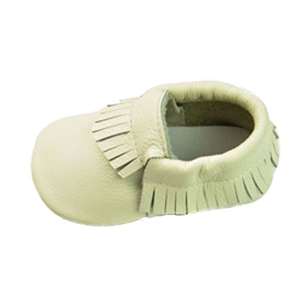Baby Newborn Tassels Leather Shoes Soft Anti-slip Prewalker