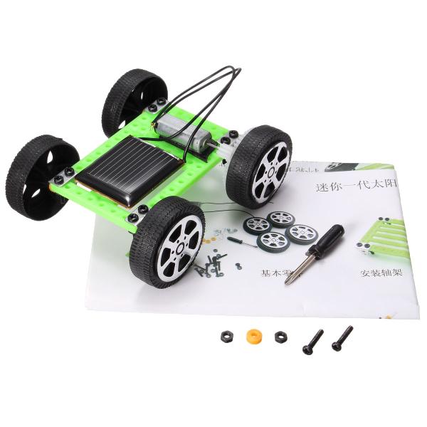 Solar DIY Gadget Car Mini Puzzle IQ Educational Toys