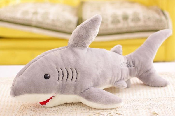 Baby Kids Shark Shaped Plush Doll Animal Bolster Pillow Gift