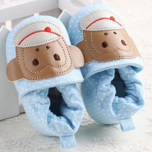 Baby Boys Cotton Monkey Soft Soled Toddler Crib Shoes
