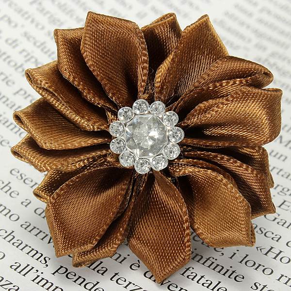 Baby Girls Satin Ribbon Polygonal Flowers Diamond Accessories