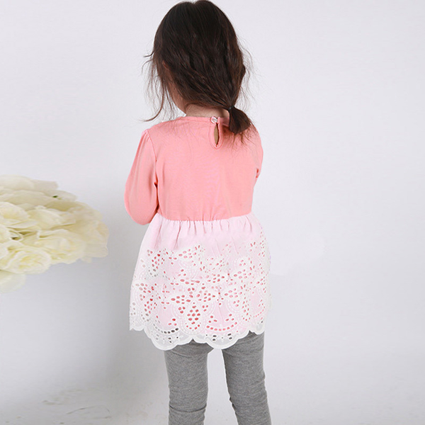 Baby Girls Long Sleeve Stitching Styles Princess Dress