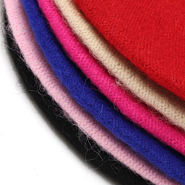 Children Baby Girls Woolen Beret Solid Color Bud Hat Cap
