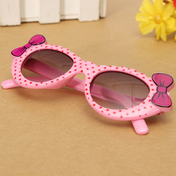 Baby Child Girls Cute Colorful Sunglasses Goggles Bow Eyewear